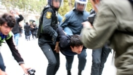 Around 30 activists were arrested.