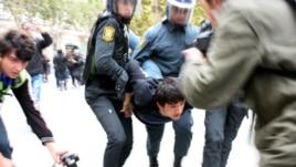 Around 30 activists were arrested.