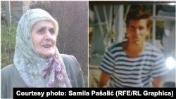Šuhra Pašalić (lijevo) nije dočekala da ukopa posmrtne ostatke svoga ubijenog sina Muhameda (desno)