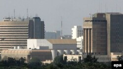 نمایی عمومی از منطقه حفاظت شده بغداد که منطقه سبز معروف است.