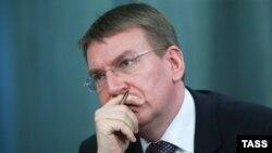 Летонскиот министер за надворешни работи Едгарс Ринкевицс.