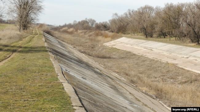 Северо-Крымский канал, март 2020 года