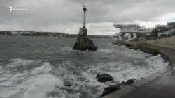 Январский шторм в Севастополе (видео)