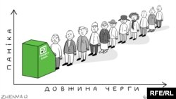 Ukraine's PrivatBank: Politics (Vertical Axis) Meets Withdrawals (Horizontal Axis) (RFE/RL Ukrainian Service)