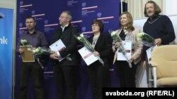 На цырымоніі: Ігар Бабкоў, Артур Клінаў, Алена Брава, Людміла Рублеўская, Сяргей Вераціла