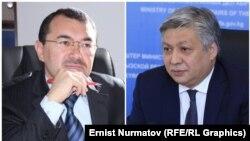 Kylychbek Sultan (left) and Erlan Abdyldaev have both been dismissed by President Sooronbai Jeenbekov.
