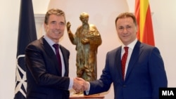 Средба на премиерот Никола Груевски со Генералниот секретар на НАТО Андерс Фог Расмунсен
