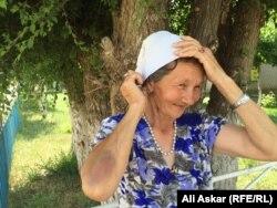 Жабасақ ауылының тұрғыны Галя Алтынбаева. 8 шілде 2016 жыл.