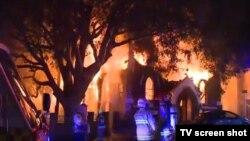 Požar na crkvi u Sidneju