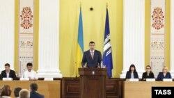 VItali Klitschko gjatë inaugurimit të tij