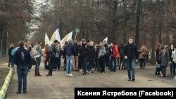 Студенты РГАУ-МСХА на митинге против застройки полей вуза 31 марта 2016г.