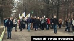 Студенты на акции протеста