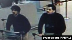 A photo of two of the men suspected of carrying out a suicide bombing at Brussels' airport