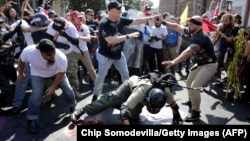Столкновения во время протестов в Шарлотсвилле, 11 августа 2017 года