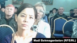 Ақмарал Біләлова, белсенді Болатбек Біләловтің зайыбы. Астана, 20 қараша 2015 жыл.
