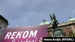"""""""Milion potpisa za REKOM"""", prikupljanje potpisa za inicijativu za osnivanje Regionalne komisije za utvrđivanje istine o žrtvama, Beograd - ilustracija"""