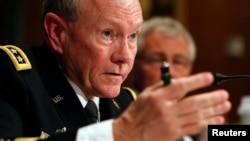 U.S. Chairman of the Joint Chiefs General Martin Dempsey's comments mark the first time the U.S. military has openly endorsed sending advisers to the restive province.