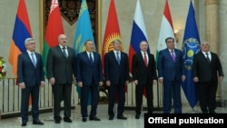 Участники саммита ОДКБ в Бишкеке, 14 апреля 2017 г․