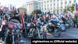 «Ночные волки» в Симферополе, 18 марта 2020 года