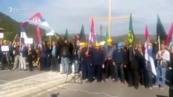 Protest radnika Trepče u Rudaru