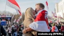 Сьвята #БНР100 на Дзень Волі ў Менску, 25 сакавіка