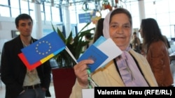 28 aprilie 2014, una dintre primele călătorii fără vize în UE