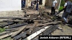 Разбор завалов в доме Абдраимоа Мажитова.