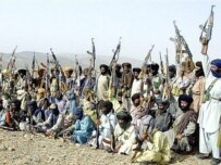 Baluchi insurgents at a camp south of Quetta, in Pakistan's Baluchistan Province (AFP)