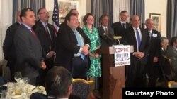 مشاركون في مؤتمر التضامن القبطي العالمي