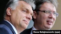 Viktor Orban i Aleksandar Vučić, fotoarhiv