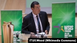Nizar Zakka speaks at the World Summit on the Information Society (WSIS) Forum 2015