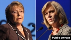 Michelle Bachelet (majtas) dhe Evelyn Matthei (djathtas).