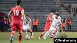 Игра сборных Филиппин и Таджикистана. Фото с сайта ФФТ
