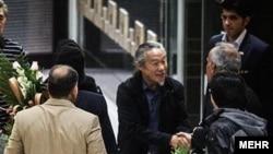 «کیتارو» آهنگساز و نوازنده سرشناس ژاپنی در تهران. اکتبر ۲۰۱۴.