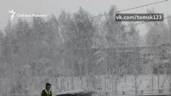 Снег в Сибири выпал в апреле