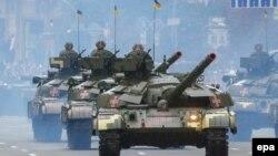 Части Вооруженных сил Украины на параде в Киеве. 24 августа 2016 года