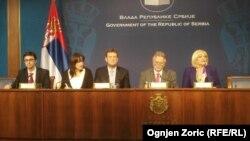 S leva nadesno: Sebastijan Sosa, Džejms Rouf, Dušan Vujović i Jorgovanka Tabaković