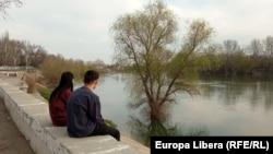Râul Nistru la Tiraspol, aprilie 2021