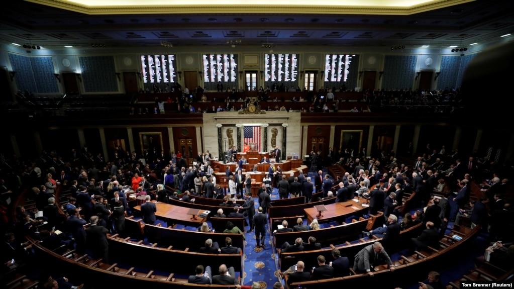 Голосование в Палате представителей по резолюции о процедуре импичмента