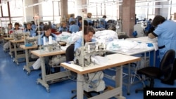 Armenia - Workers at a textile factory in Shirak region.