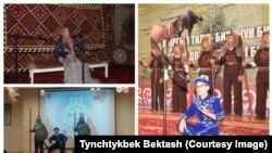 """Оштогу """"Манас"""" айтуу боюнча саамалыктын катышуучулары. Декабрь, 2017-жыл."""