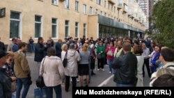 Участники протестной акции 9 сентября в Новокузнецке, архивное фото