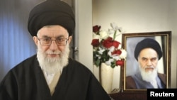 "Iranian Supreme Leader Ayatollah Ali Khamenei has accused the United States of ""terrorist behavior."""