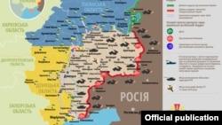 Ситуація в зоні бойових дій на Донбасі, 14 лютого 2019 року. Інфографіка Міністерства оборони України