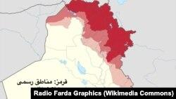 Ирактагы Күрдистан чөлкөмүнүн картасы