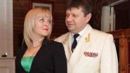 The power couple: Alyona Sokolskaya and her husband, Aleksandr Kozlov