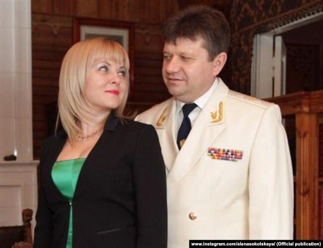 Алена Сокольская с мужем Александром Козловым