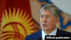 Kyrgyzstan-Bishkek, Atamabev press conference, 24Dec2015