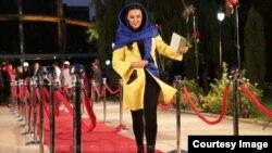 لیلا بلوکات بازیگر سینما بر روی فرش قرمز جشن حافظ