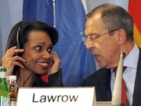 Rice (left) will meet with Sergei Lavrov, among others (file photo) (epa)